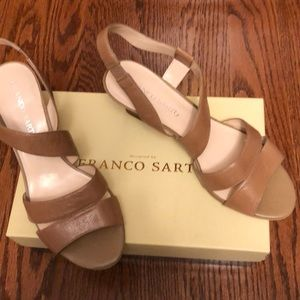 Franco Sarto Tan Sandals  size 9 1/2  preowned